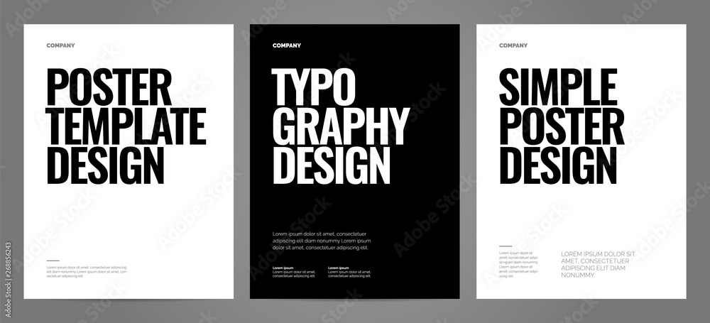 Fototapeta Simple template design with typography for poster, flyer or cover.