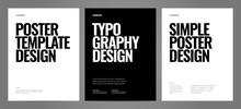 Simple Template Design With Typography For Poster, Flyer Or Cover.