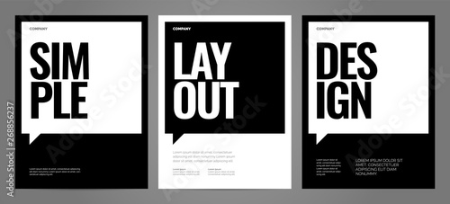 Simple template design with typography for poster, flyer or cover Fototapete