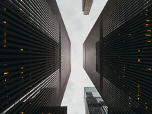 Looking Up In Manhattan Downtown