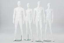 White Plastic Mannequins In Ro...