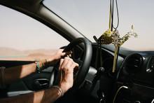 Road Trip In A Desert