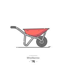 Red Wheelbarrow - Line Color I...
