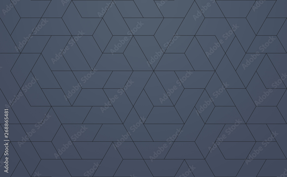 Fototapety, obrazy: Modern Pattern Geometric, techie hexagonal based texture