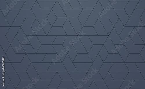 Modern Pattern Geometric, techie hexagonal based texture - 268865481