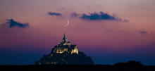Mont St Michel Crescent Moon Alignment