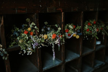 Flowers In Vintage Chest