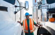 Truck Driver And Fleet Of Trucks