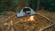 Camping Tent In The Blue Ridge...