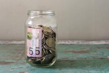 Australian Money In A Jar