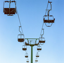 Cableway And Clear Sky