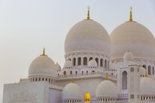 Sheikh Zayed Grand Mosque, Abu Dhabi, UAE During The Blue Hour
