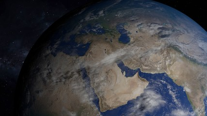 3D illustration of Earth from space.