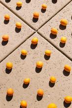 Oranges Arranged In A Grid