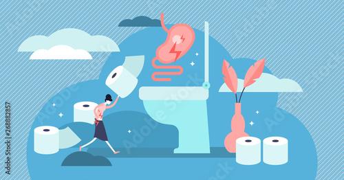 Photo  Diarrhea vector illustration