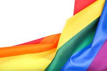 Rainbow Flag On White Background