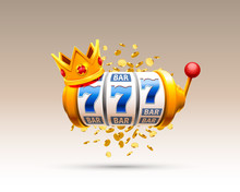 King Slots 777 Banner Casino On The White Background.