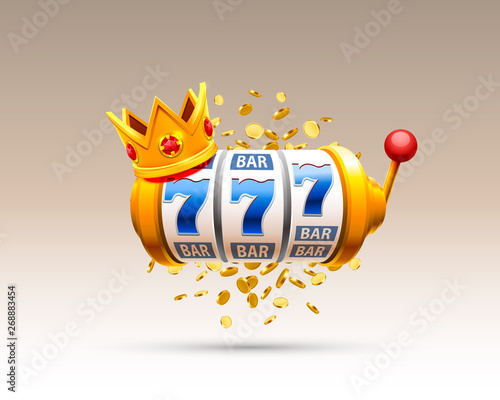 Tableau sur Toile King slots 777 banner casino on the white background.