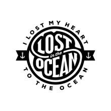 I Lost My Heart Ocean Vector I...