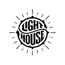 Lighthouse Circle Lettering Wi...