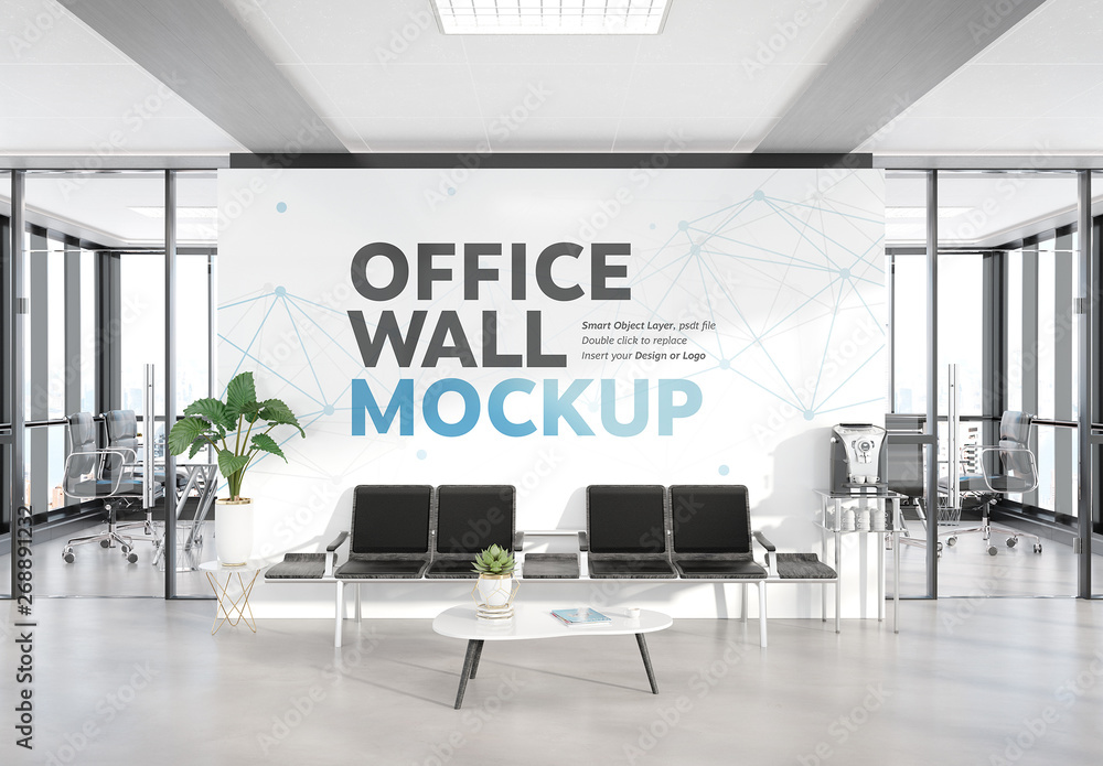 Fototapety, obrazy: Waiting Room in Modern Office Mockup