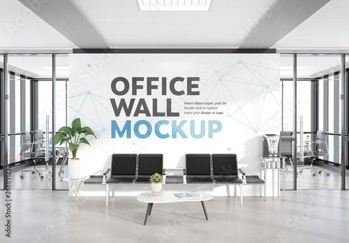 Fototapeta Waiting Room in Modern Office Mockup obraz