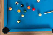 Top View Of Pool Or Billiards ...