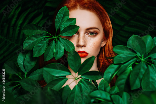 through green leaves - 268892231