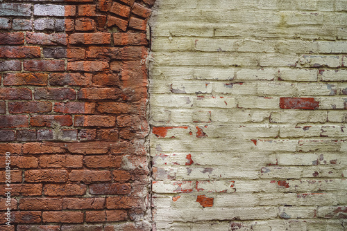 Colorful Brick Wall Painted Background