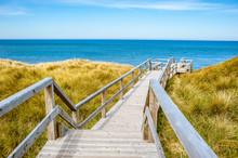 Beach Landscape Of Island Sylt, Germany