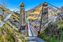 Neuseeland Südinsel - Skippers Hängebrücke über Den Shotover River An Der Skippers Canyon Road Nördlich Von Queenstown In Der Otago Region