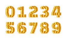 Vector Font Style Made Of Gold...