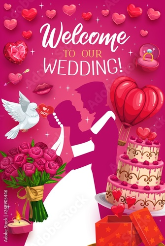 Welcome to wedding, engagement ceremony invitation
