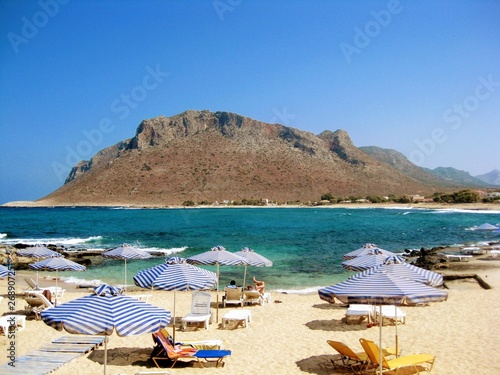 Picturesque Stavros beach at Crete, Greece Wallpaper Mural
