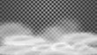 Isolated white pure clouds for your creativity, vector.