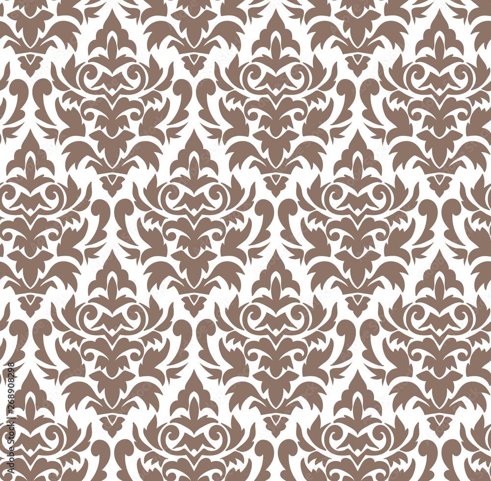 damask vector pattern simple seamless flower elegant