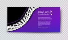 Vector Design Template With Top View Piano Keys