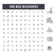 Big business line icons, signs, vector set, outline concept illustration