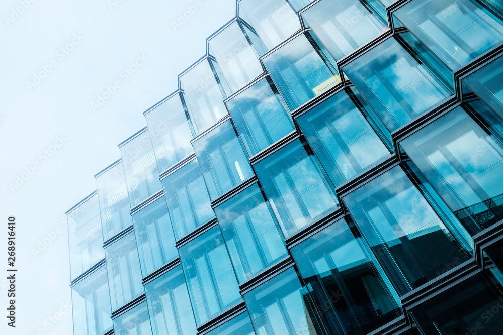 Fototapeta modern  architecture, office building glass facade