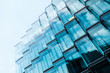 canvas print picture - modern  architecture, office building glass facade