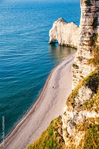 Coastal Landscape Along The Falaise D Aval The Famous White Cliffs