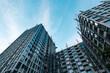 Leinwandbild Motiv building facade under construction, real estate development  -