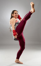 Young Kickboxing Lady