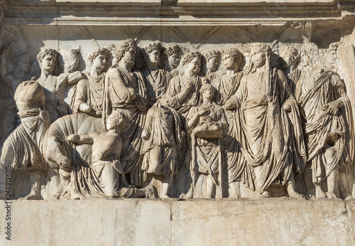 Details of the Arch of Trajan - Benevento, Campania, Italy Wallpaper Mural