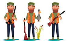 Hunter Man Cartoon Character