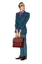 Businessman With A Business Briefcase