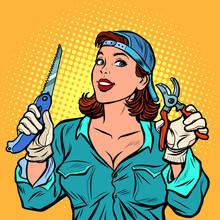 Woman Gardener In The Garden W...