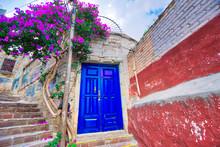 Scenic Cobbled Streets And Traditional Colorful Colonial  Architecture In Guanajuato Historic City Center