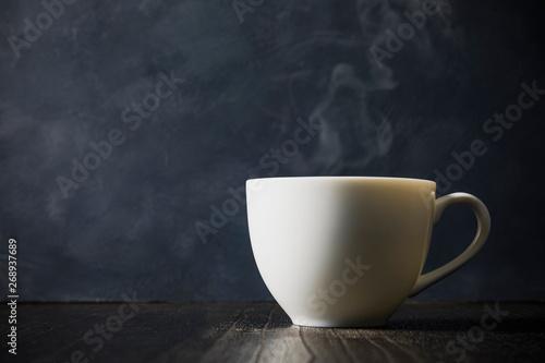 コーヒー Coffee cup on dark background