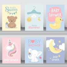 Cute Baby Shower Invitation. V...